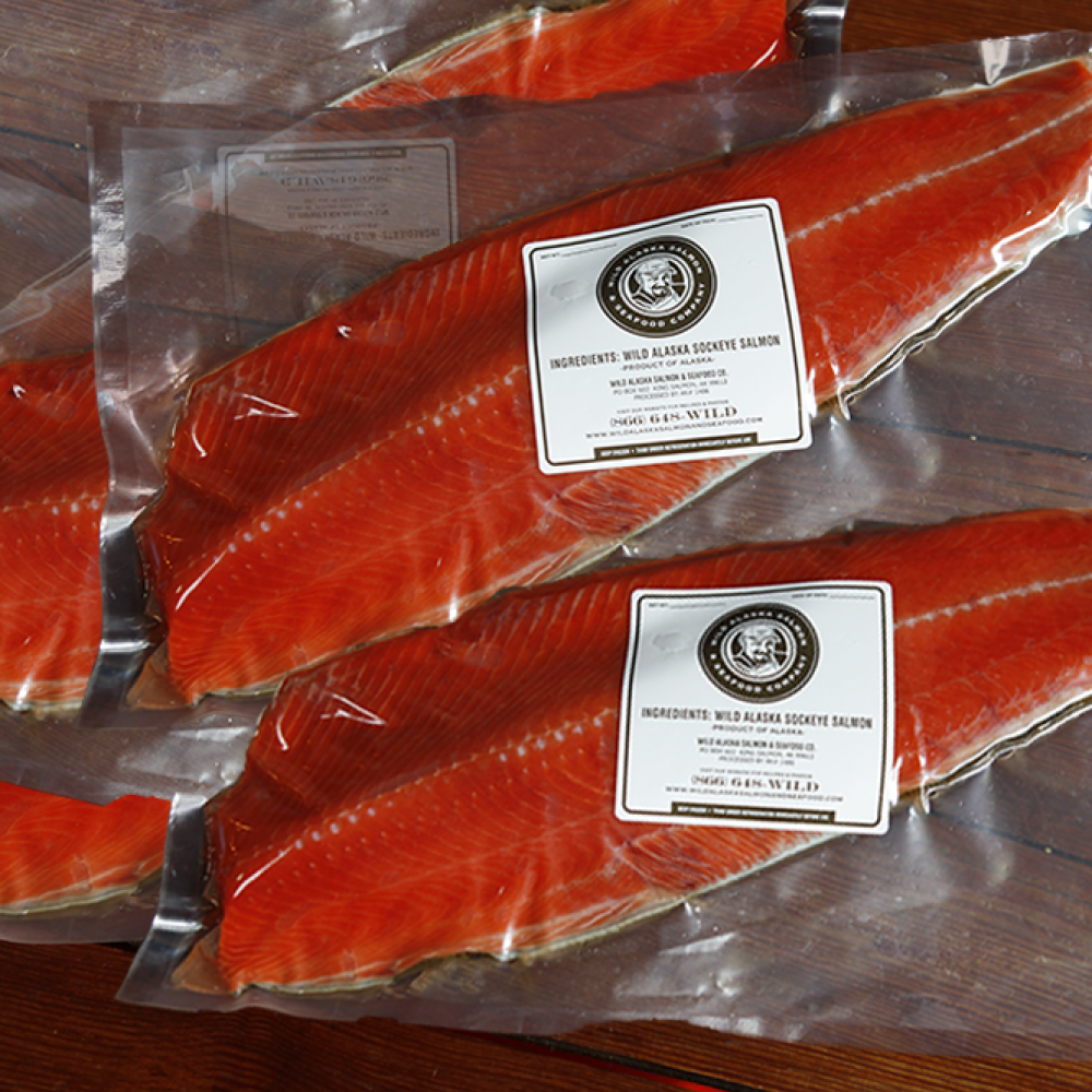 Whole Sockeye Salmon Fillets