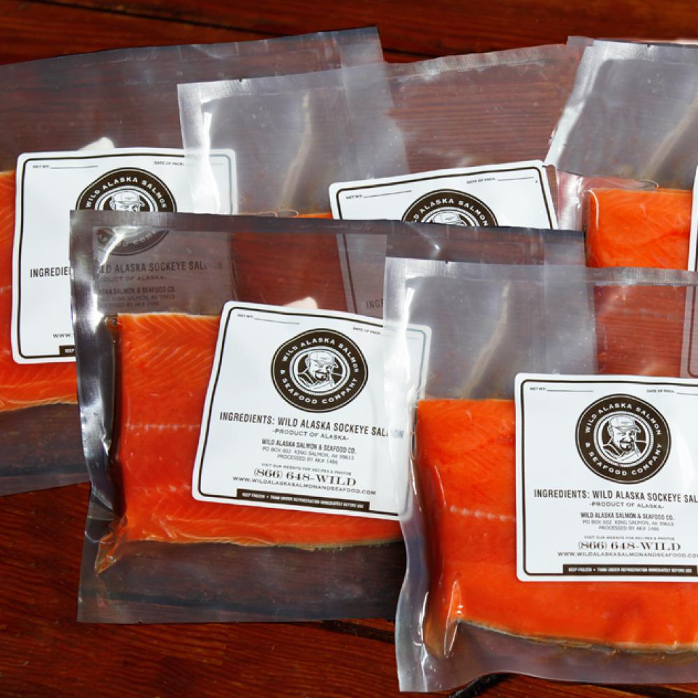 Petite sockeye salmon fillets