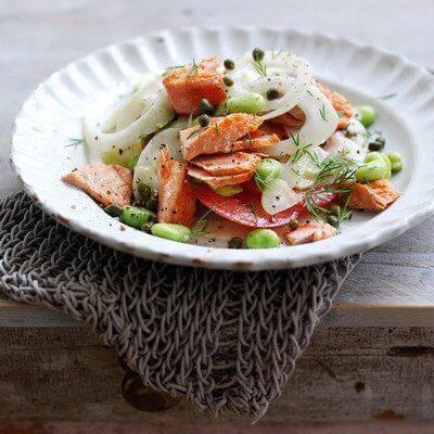 Alaska Salmon, Fennel and Tomato Salad - Wild Alaska Salmon And Seafood Company