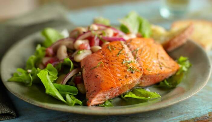 Alaska Salmon And White Bean Salad - Wild Alaska Salmon And Seafood Company