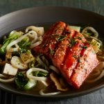 Alaska Honey Sriracha Salmon Noodle Bowl