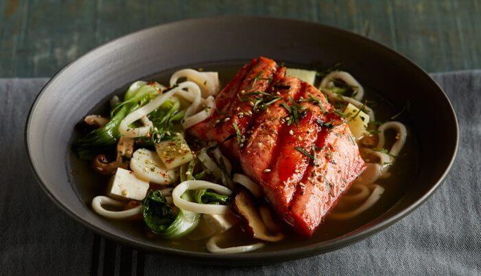Alaska Honey Sriracha Salmon Noodle Bowl - Wild Alaska Salmon And Seafood Company