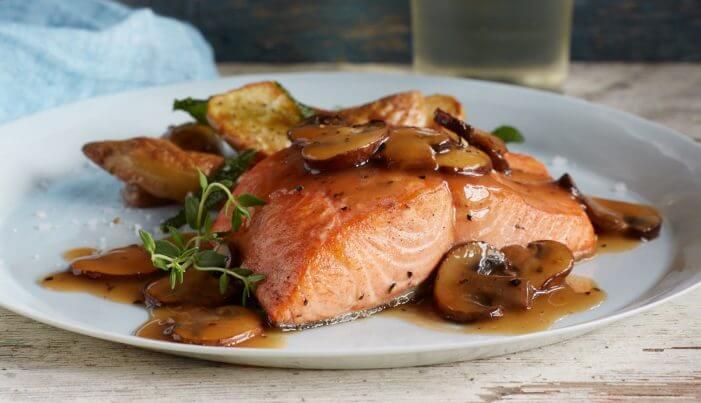 Alaska Salmon Marsala - Wild Alaska Salmon And Seafood Company