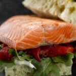 Grilled Alaska Salmon Focaccia Sandwich