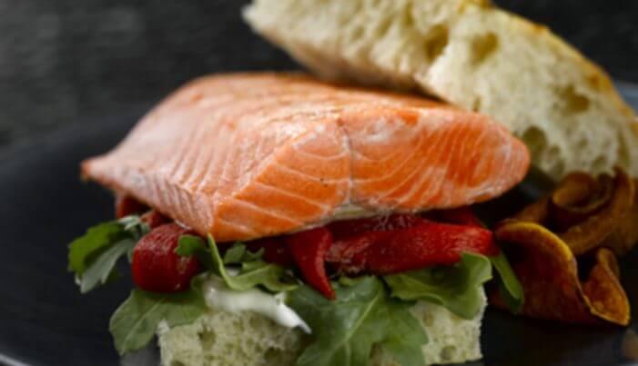 Grilled Alaska Salmon Focaccia Sandwich - Wild Alaska Salmon And Seafood Company