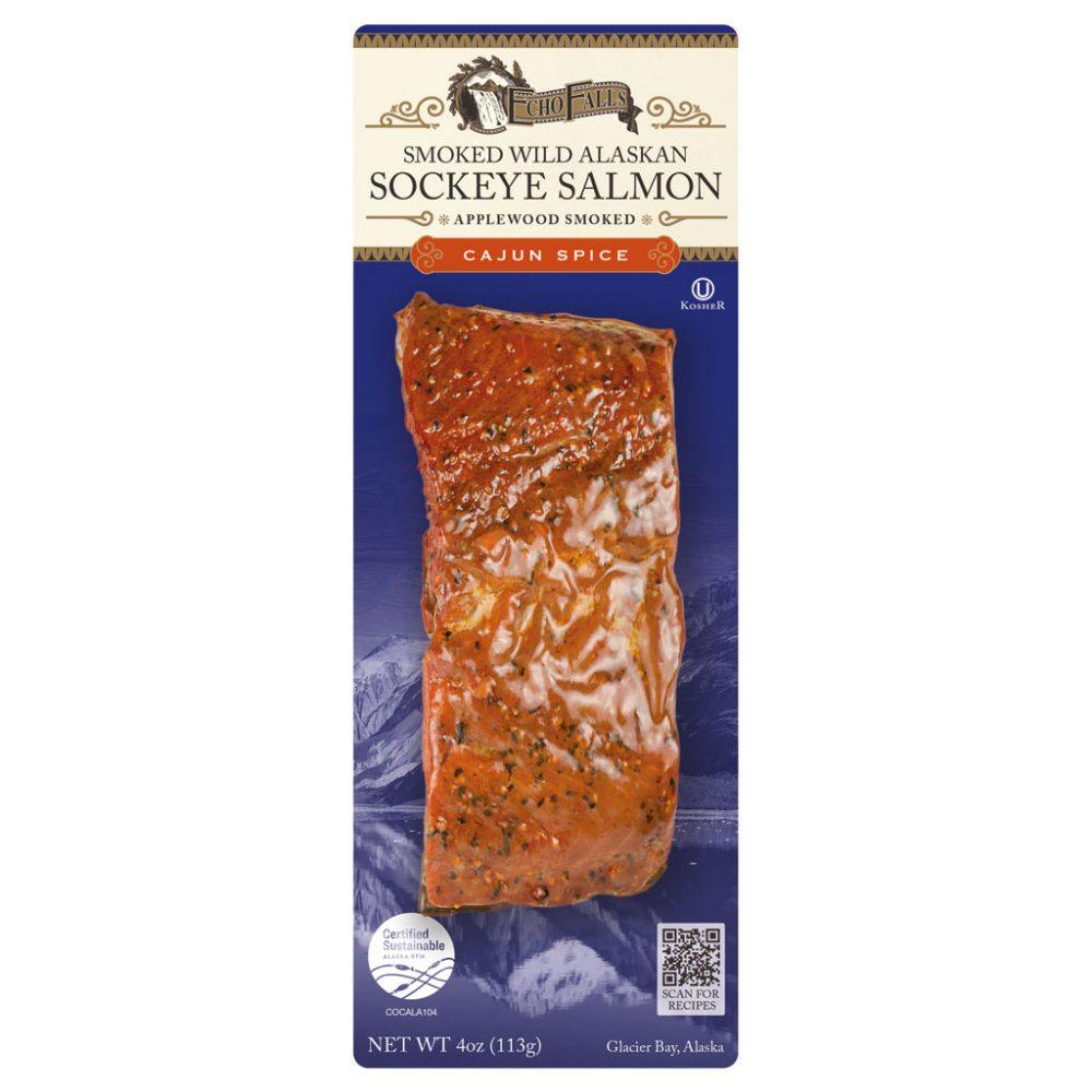 Echo Falls Applewood Smoked Salmon Cajun 4oz