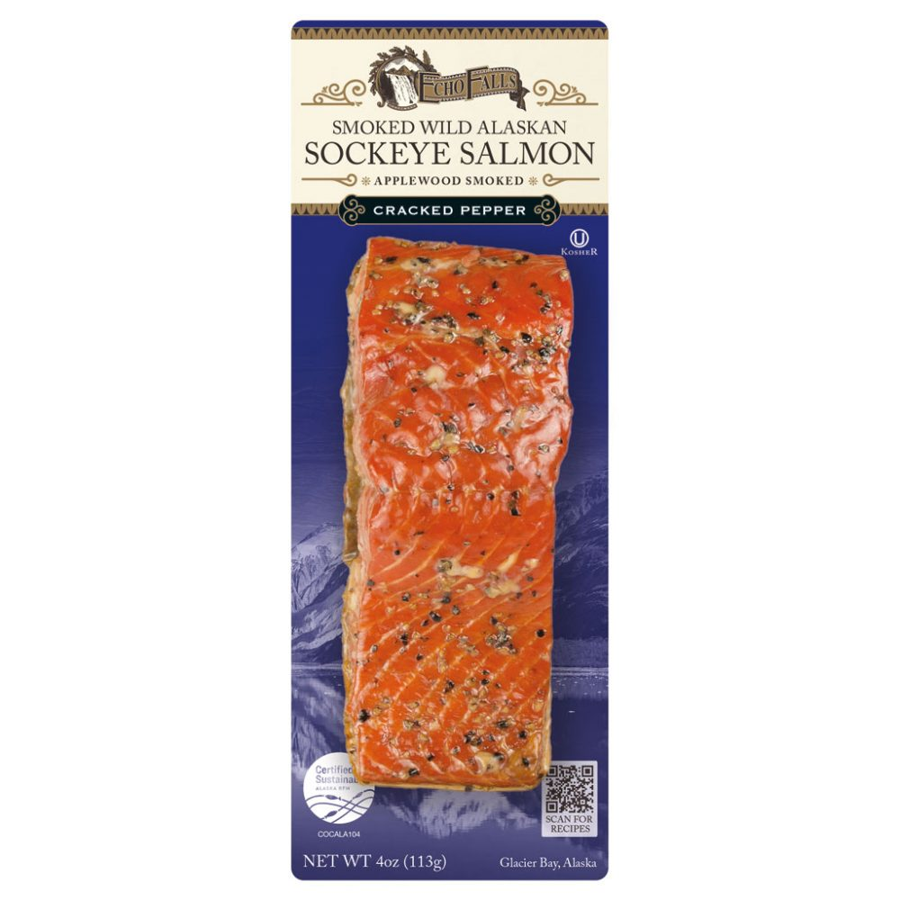 Echo Falls Cracked Pepper Flavored Smoked Salmon 4oz