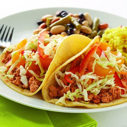 Wild Caught Salmon Burger Meat in Delicious Alaskan Salmon Tacos