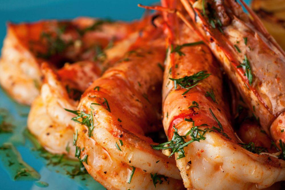 Jumbo Shrimps Grilled with Lemon Garlic Citrus