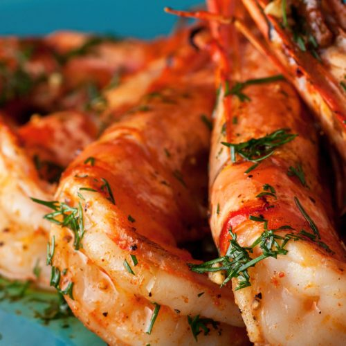 Jumbo Shrimps Grilled with Lemon Garlic Citrus