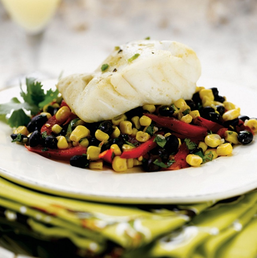 Alaska Cod With Black Bean Salad - Wild Alaska Salmon And Seafood Company