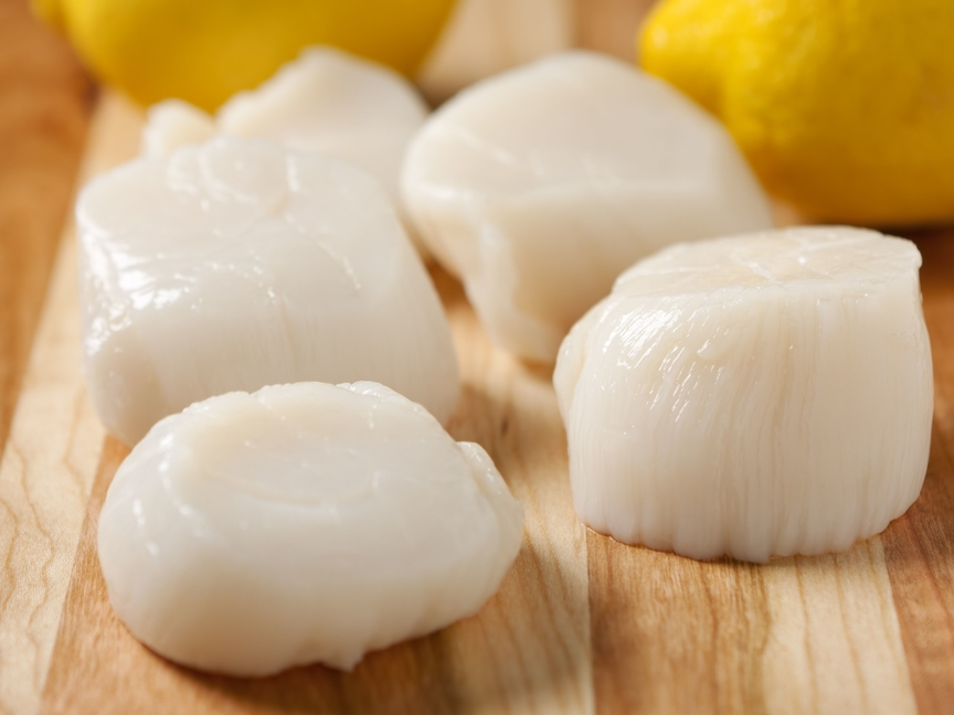 Fresh Sea Scallops With Lemons - Wild Alaska Salmon And Seafood Company