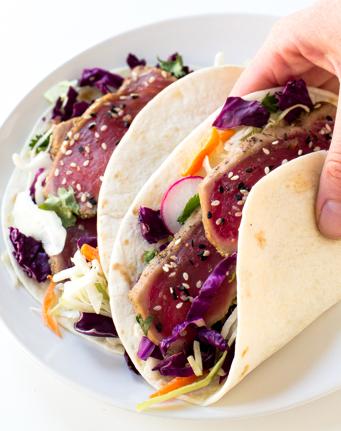 Seared Ahi Tuna Tacos - Wild Alaska Salmon And Seafood Company