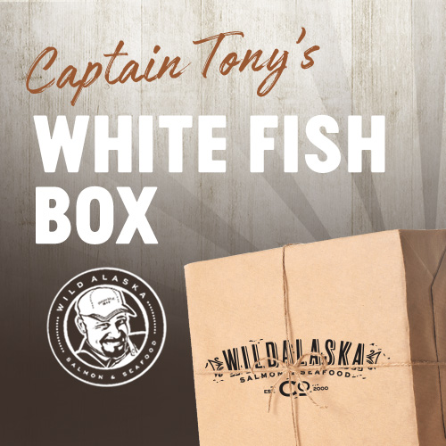 Wild Caught Halibut, Pacific Cod, and Alaskan Black Cod are part of our White Fish Box