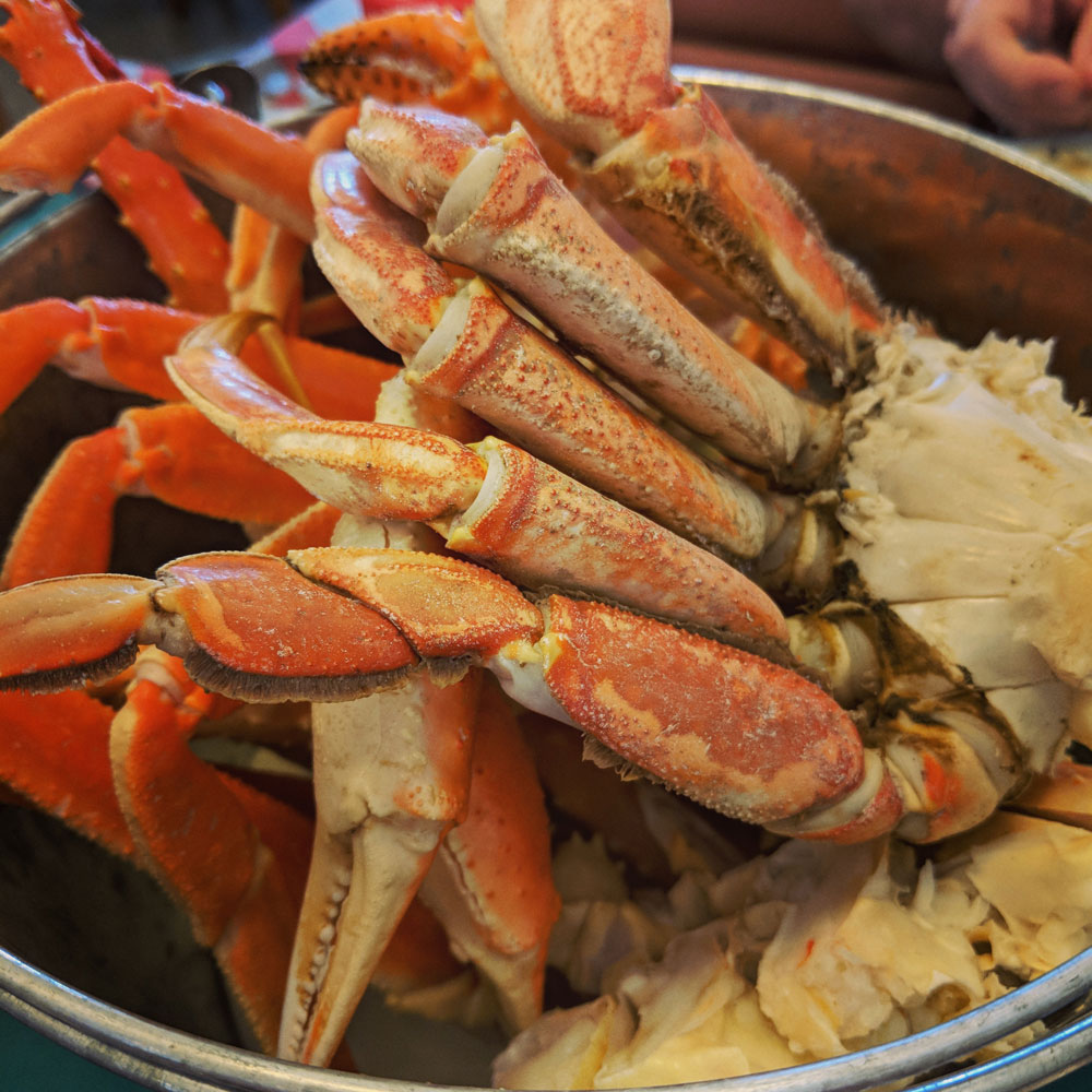 Steamed Dungeness Crab Legs
