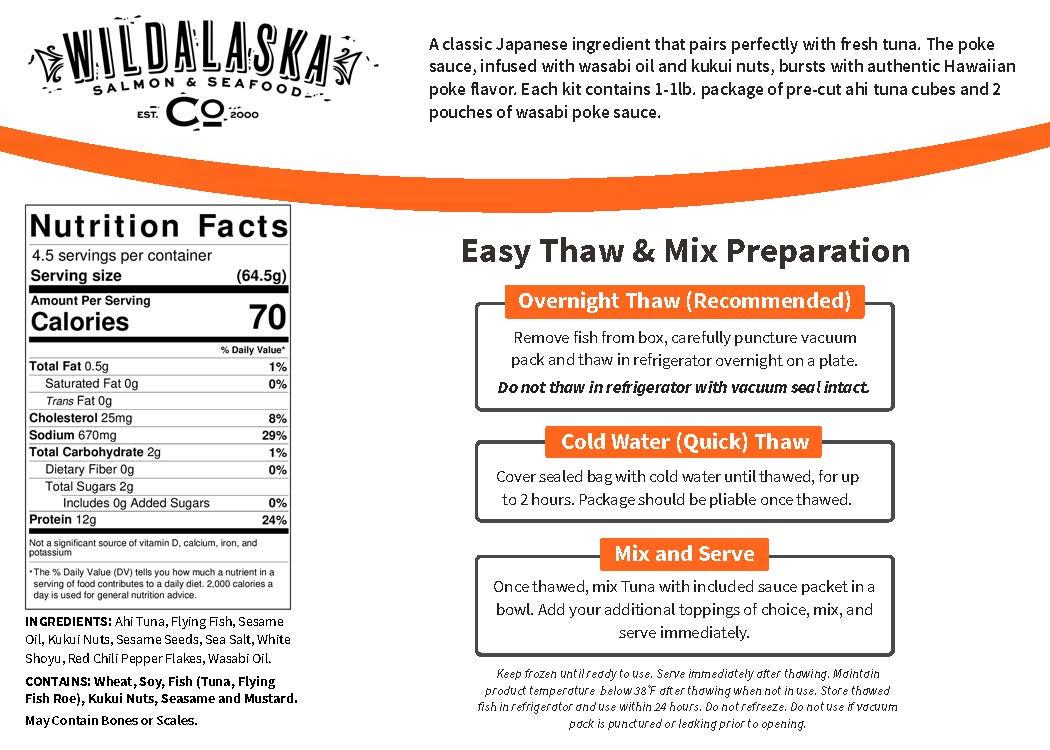 Wasabi Ahi Poke Kit Label