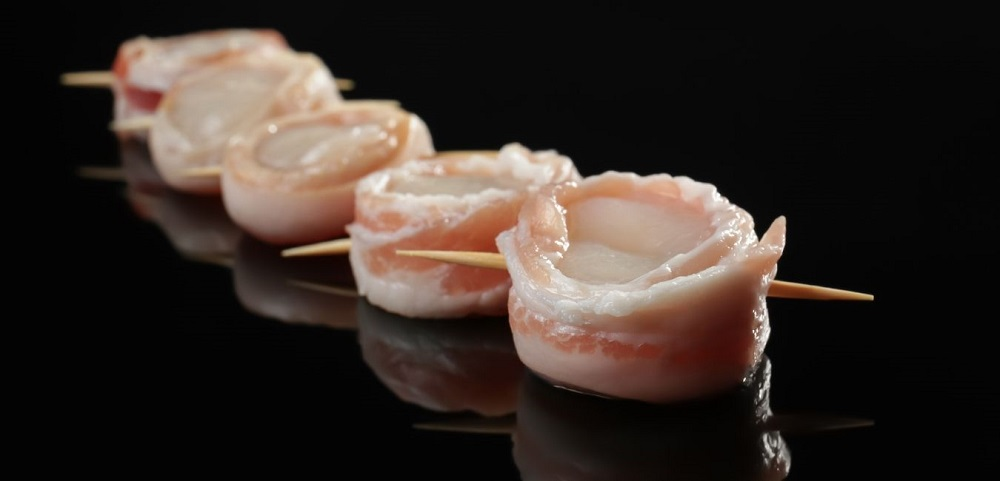 Bacon Wrapped Scallops_Raw