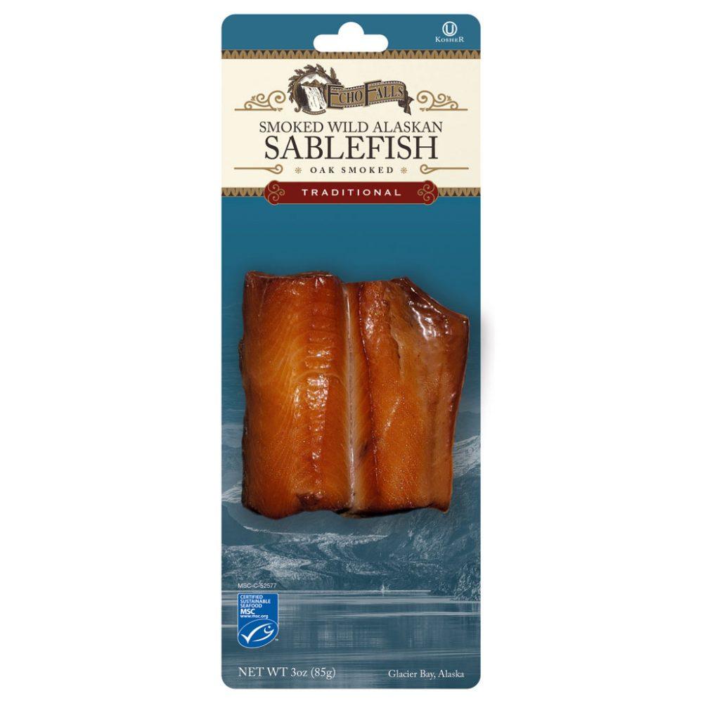 Echo Falls Traditional Smoked Sablefish (Black Cod) 3oz