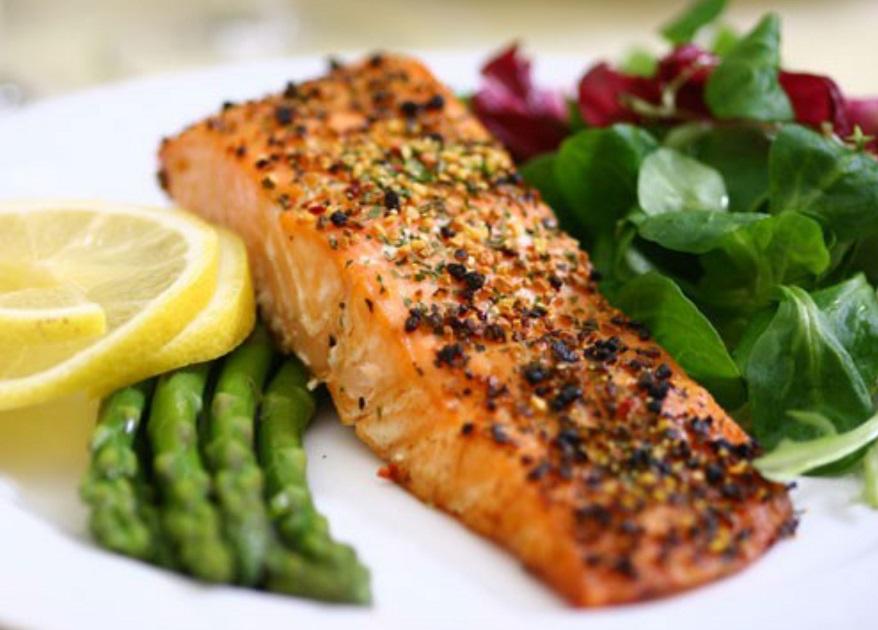 King Salmon and Asparagus