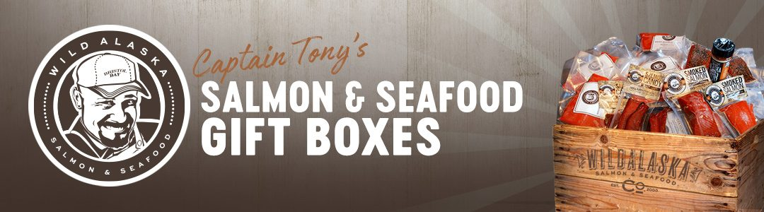 Captain Tony's Salmon and Seafood Gift Boxes Header
